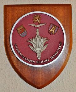 Dutch Opleidingscentrum Militaire Administratie plaque shield OCMA gedenkplaat