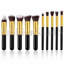 10Pc Conjunto de Herramientas de brochas de Maquillaje Cosmético Sombra De Ojos Cara Polvo Base Cepillo del labio
