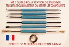 KIT 6 OUTILS STATION DE SOUDAGE ETAIN  ELECTRONIQUE AIDE A LA  SOUDURE