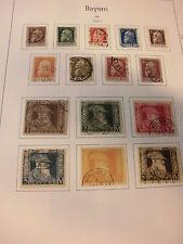 Sammlung Bayern 1876-1920 gestempelt u.a. mit 43, 69/70, 71/74, 86/91 I .. (281)