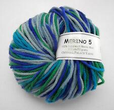 Crystal Palace Merino 5 100% Superwash Merino Wool Yarn - 1 Skein Blue Green Mix