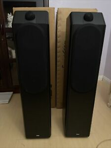 B&W-BOWERS AND WILKINS CDM-7 Black Special Edition FLOOR-STANDING SPEAKERS. NEW
