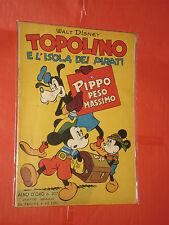 ALBO D'ORO TOPOLINO n° 207- DEL 1950-LIRE 40-pippo isola pirati-mondadori-disney
