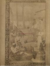 Paris Panthéon Photo d'une fresque de Puvis de Chavannes Albuminé Vintage c 1900