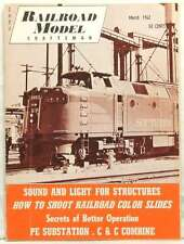 RAILROAD MODEL MAGAZINE SOUND AND LIGHT STRUCTURES COLOR SLIDES RARE MARCH 1962