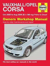 Vauxhall / Opel Corsa Petrol & Diesel Oct 2000 - Aug 2006 Haynes Manual 5577 NEW