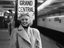 black and white marilyn monroe at grand central station photo art print picture