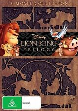 "The Lion King 1, 2 & 3 Trilogy DVD R4 Walt Disney New Sealed ""on sale"""