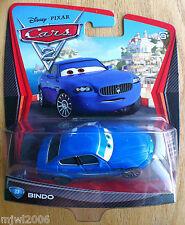 Disney PIXAR Cars 2 BINDO # 37 Blue Maserati brother diecast Italian race fan
