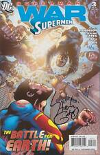 WAR of the SUPERMAN #3 DF SIGNED STERLING GATES COA