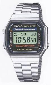 Casio A168WA  Orologio,Uomo e Unisex, Vintage, Batt.7anni, Crono, Illuminator