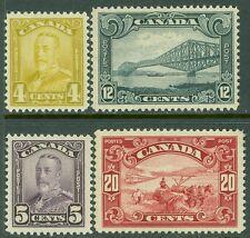EDW1949SELL : CANADA 1928-29 Scott #152-53, 56-57 PO Fresh & VF MOGLH. Cat $148