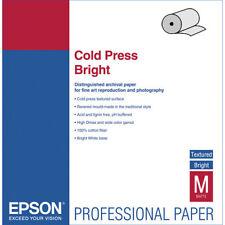 """Epson S042313 Cold Press Bright Paper -17"""" x 50' Roll"""