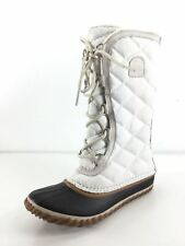 M16 Sorel Out N About Tall Sea Salt Textile/Leather Lace Winter Boot Women Sz 7M