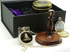 Personalised Royal Artillery Gunners Gift Hamper Pocket Watch Stand Engraved