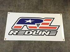 Redline banner sign shop wall garage bicyle BMX flight cranks bike race cruiser
