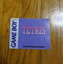 Tetris Gameboy Instruction Manual Booklet Nintendo NO Game FREE SHIPPING!!