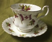 Royal Albert Bone China From Sea to Sea Canada Maple Leaf Cup and Saucer England