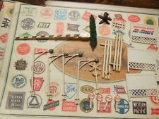 American Flyer Large Lot of S Gauge All Aboard Scenic Pieces & More?
