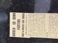 M3-8a ephemera 1941 dagenham article ww2 ford sports v r a f xi football report