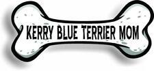 "Dog Mom Kerry Blue Terrier Bone Car Magnet Bumper Sticker 3""x7"""