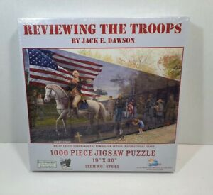 """REVIEWING THE TROOPS by Jack E Dawson 19"""" x 30"""" 1000 Piece Jigsaw Puzzle New"""