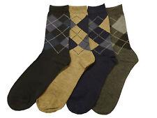 Mens 4 pairs of Classic Argyle Socks ~ UK 7-11