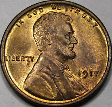 1917 Lincoln Cent Gem BU++ NICE ORIGINAL Red-Brown COIN!! NEAT COIN!!