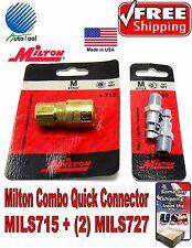 Milton 715 Milton 727 Original Combo Quick Connector M Style Coupler Made In USA