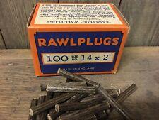 Verpackung 100 NOS Original Faser Dübel 5.1cm x 14 Rawlpugs Retro