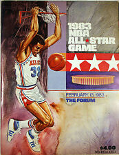 1983 NBA Basketball All Star Game Program The Forum