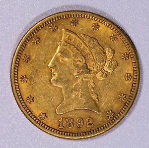 1892 S $10 Liberty Gold Eagle Item#J7287