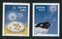 Lithuania 2019 MNH Merry Christmas.Set of two stamps.Happy New Year ! **