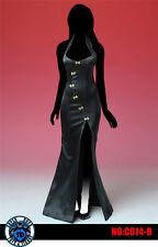 SUPER DUCK C014 1/6 black Improved cheongsam dress Women's clothes