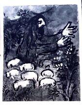 Marc Chagall offset lithograph Bible  paris maeght 1960 original  2 sided 139