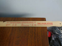 "VINTAGE WOODEN OVEN STICK RULER ADVERTISING 13 3/4"" LONG"