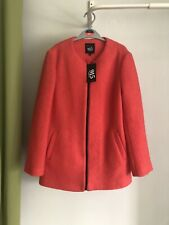 Girls New Look Coat Age 10-11 Years. Nwt. Pinkish Red. Wool
