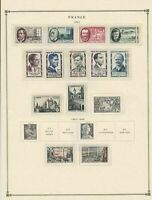france 1957 stamps page mounted mint & used ref 17500