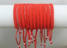 Free Ship Trendy 10pcs Red Line Macrame Hand-weave Friendship Bracelet Anklets