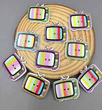 25X  Wooden Buttons Sewing crafts television shape decoration Scrapbooking 25mm