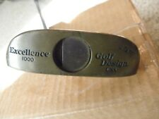 Men right handed steel shaft Golf Designs Excellence 1000 Brass and wood putter