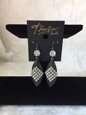 Thalia Sodi Hematite-Tone Crystal Drop Earrings-NEW!!