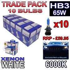 10 X Hb3 65w Xenon Blanco bombillas halógenas 6000k-comercio a granel venta al por mayor 10 Pack Niebla