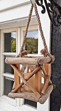 ❀ Holzlaterne Treibholz 14cm x 14cm Braun mit Glas Windlicht Laterne Holz #339