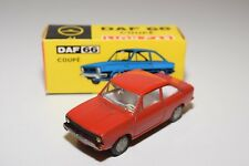 !!@ LION CAR DAF 66 COUPE RED NEAR MINT BOXED