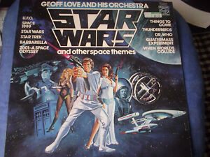LP vinyl STAR WARS and other space themes geoff love sehr gut
