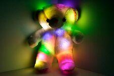 LED Light Up Teddy Bear Pillow - 21 inch Soft MultiColor Rotation glow bear