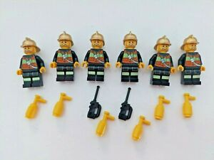 LEGO FIREMEN WITH ACCESSORIES BUNDLE CITY