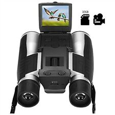"""2"""" Lcd Digital Binoculars with Camera for Adults, 12x32 5Mp Video Photo Recoder"""