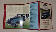 Datenblatt EMW BMW 340 Kombi DDR Kultfahrzeug Atlas